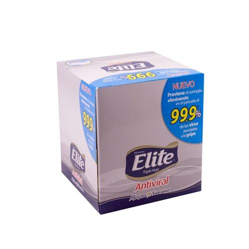pañuelos elite cubo facial antiviral x60