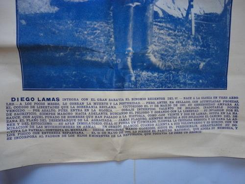 papel antiguo  plateria criolla afiche sellado y firmado