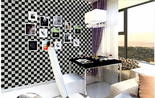 papel empapelar adhesivo dramero blanco y negro  3l1101-2