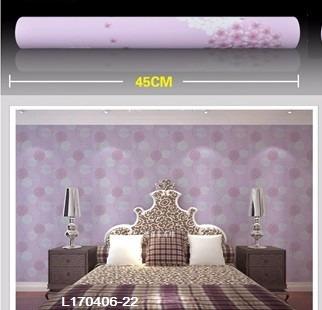 papel empapelar lavable  pvc1 mt x 45cm flores lilas violeta