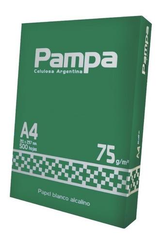 papel fotocopia pampa a4 75g x500 hojas districomp