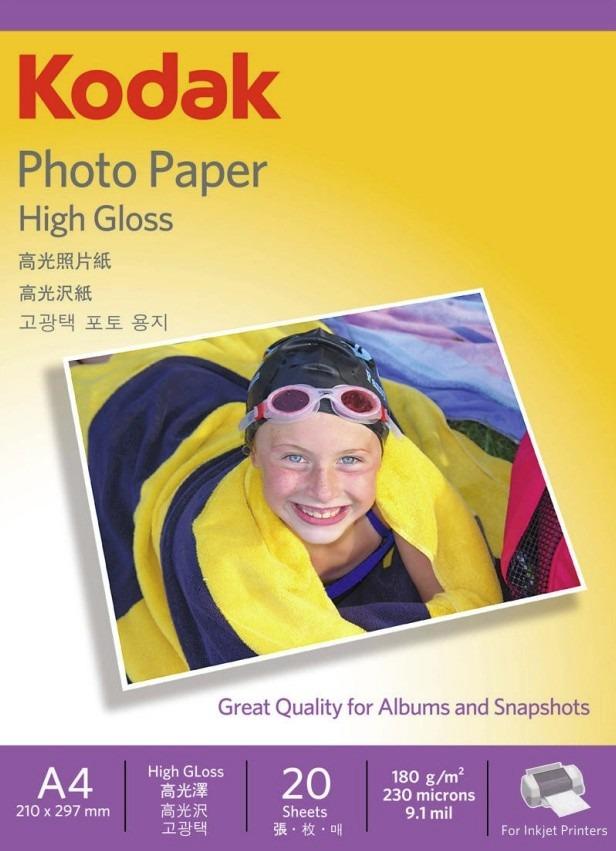 Hojas 20 Henzo foto cartón blanco con papel cristal papel fotográfico foto hojas a4