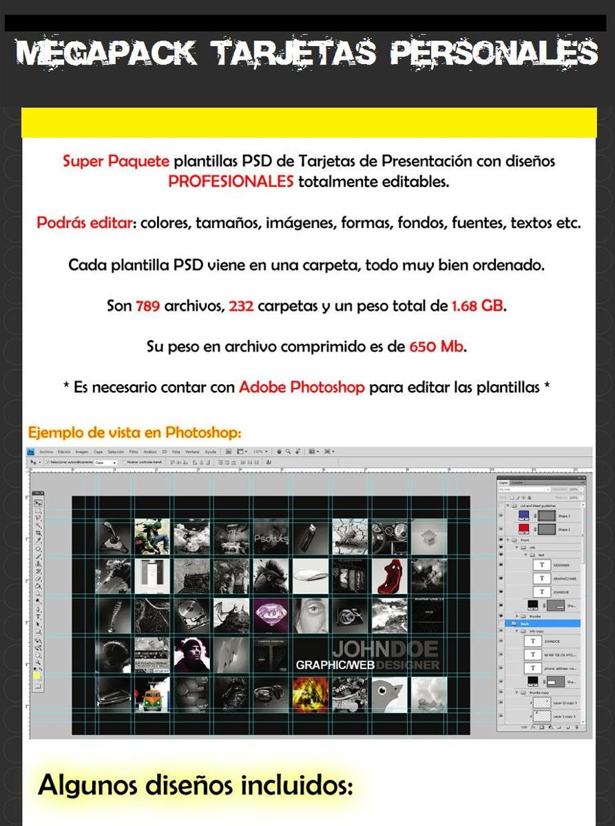 Paquete De Plantillas Para Tarjetas De Presentación Diseño - $ 150 ...