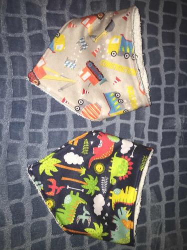 para bebés, baberos bandana