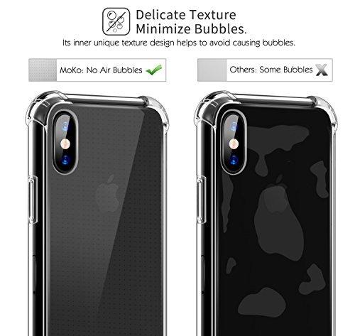 para iphone x funda / iphone 10 funda, moko crystal clear es