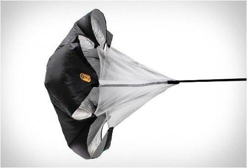 paracaídas de entrenamiento corredores velocidad atletismo