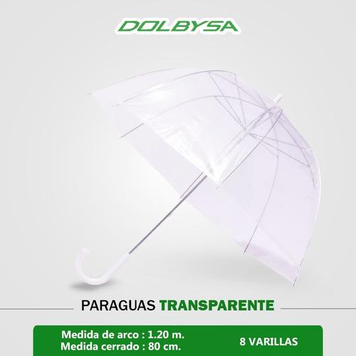 paraguas con forma de hongo  de pvc transparente