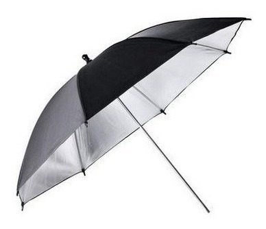 paraguas plateado reflector fotografía iluminación 83cm