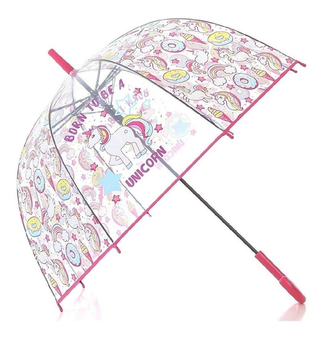 diseño innovador comprar más nuevo más de moda Paraguas Unicornio Grande Transparente