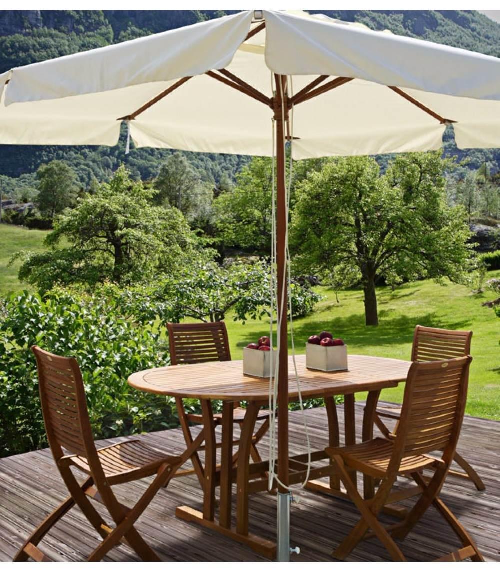 Parasol Sombrilla Cuadrada Wood Para Jardn Playa Hotel.