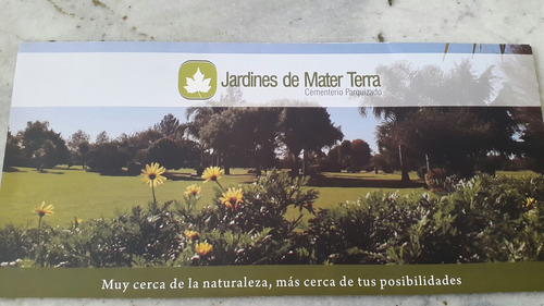 parcela en cementerio mater terra.