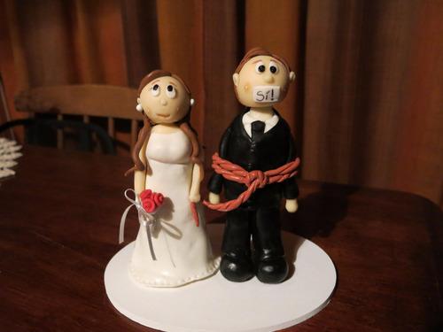 pareja novios boda porcelana fría 20 cm aprox.