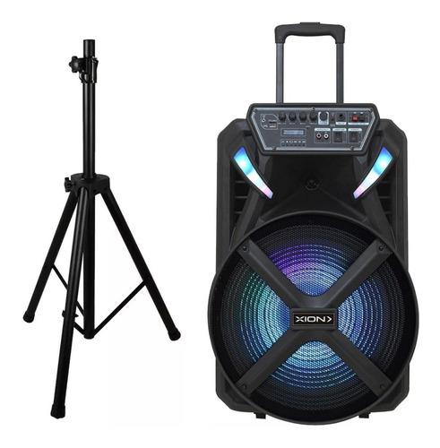 parlante 15 activo tripode bateria bluetooth microfono dimm