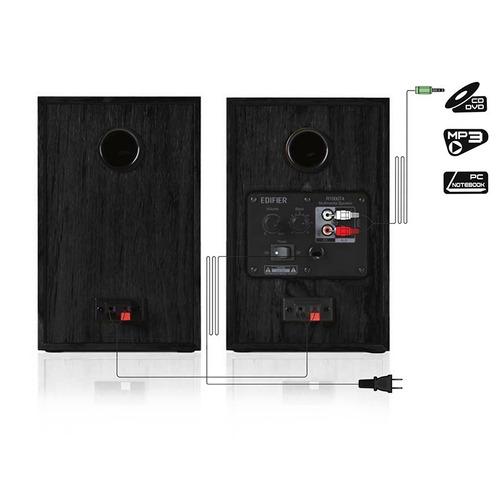 parlante 2.0 edifier r1000 t4 negro 100% madera