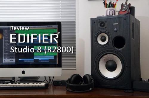 parlante 2.0 edifier r2800 3 vias madera profesional studio