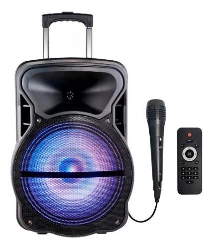 parlante 8 activo luz led a bateria portatil dimm