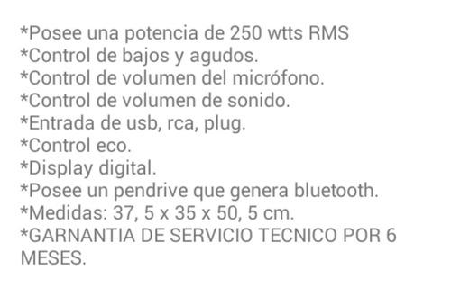 parlante activo winco w-210 10¨250w rms puerto usb y sd