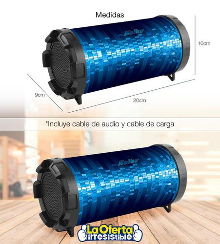 parlante bluetooth kolke canyon a batería fm usb aux en loi