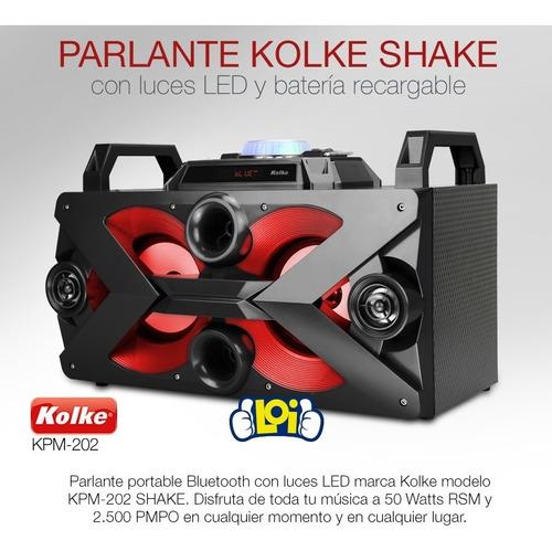 parlante bluetooth kolke shake a batería con mic oferta loi
