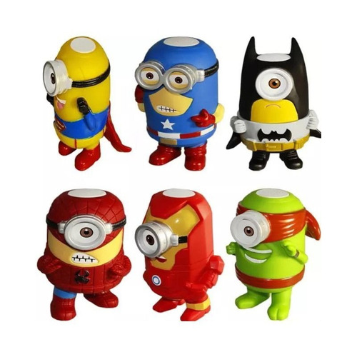 parlante bluetooth personajes minions superheroes