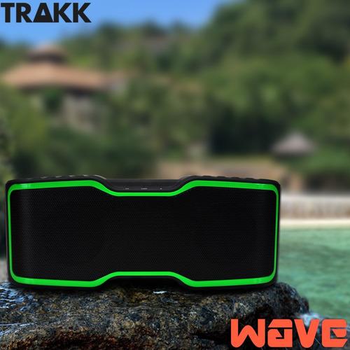 parlante bluetooth trakk trwv500-gn wave 20 w waterproof