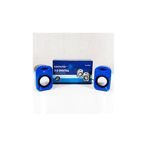parlante comstar usb sp22 azul - dracmastore