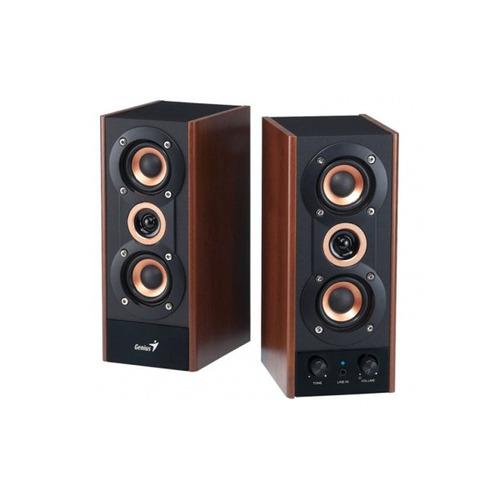 parlante genius sp-hf800a madera 20w alta fidelidad