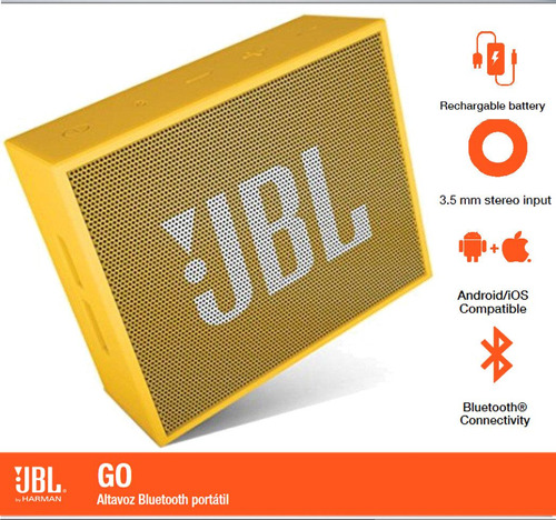 parlante jbl go yellow portátil bluetooth diseño sonido dit