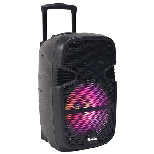 parlante potenciado kolke 12' bluetooth batería 2 mic loi