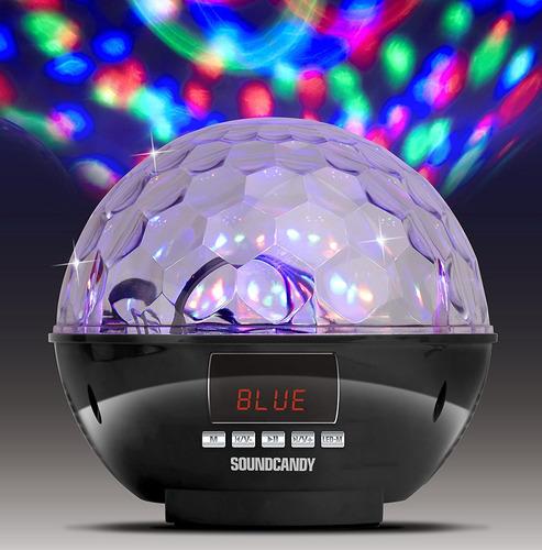 parlante soundcandy sc3002bkb-bt rave ball