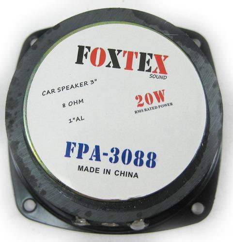 parlante woofer 3pulgadas 4 y 8 ohm 40w max foxtex