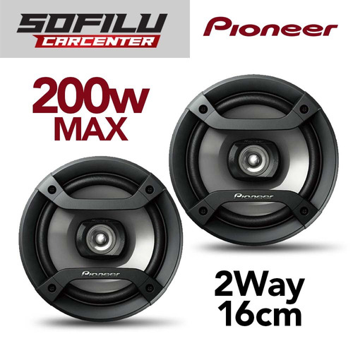 parlantes pioneer ts-f1634r de 16cm y 200w