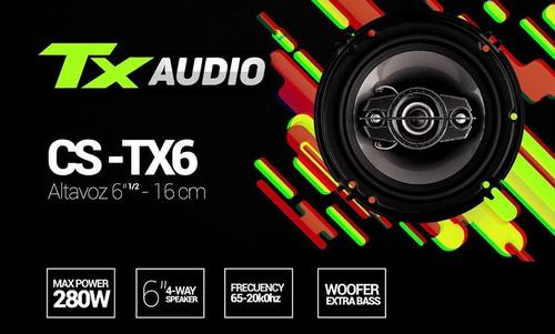 parlantes tx audio 6 16cm 280w lo mejor al mejor precio !!