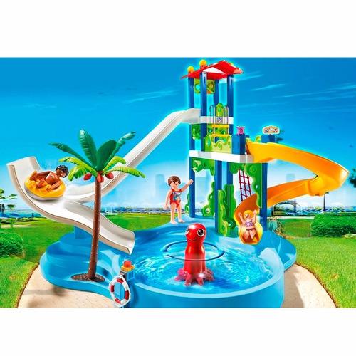 parque acuático con toboganes - playmobil
