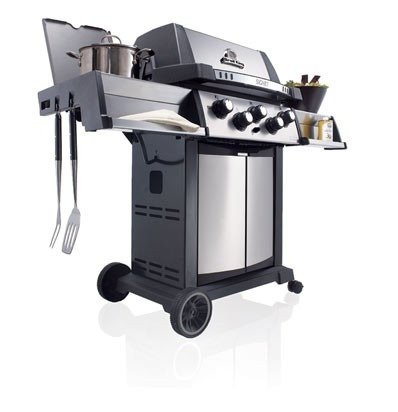 parrilla - barbacoa americana a gas broil king - signet 90