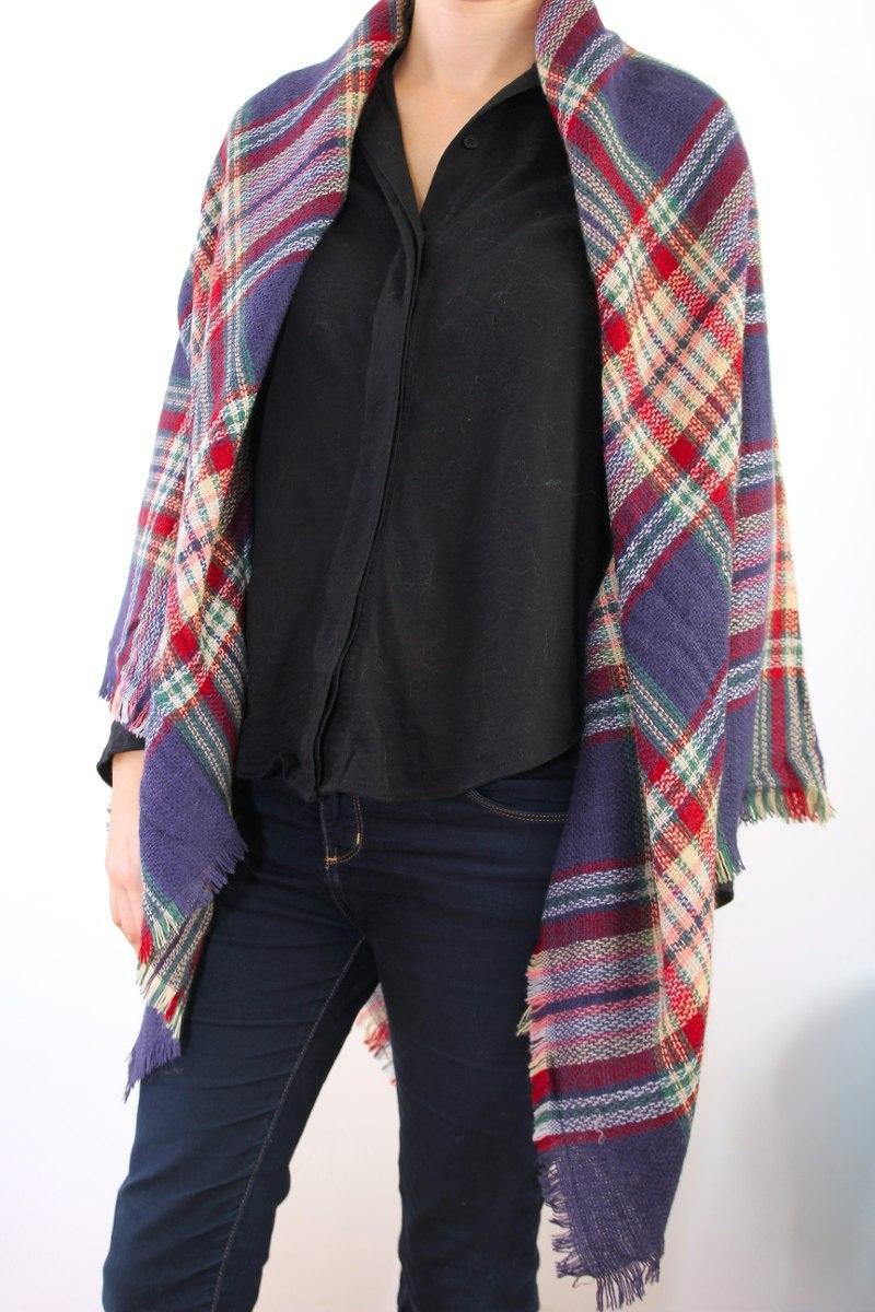 Abrigo Pashmina Escoces Ruana Manton 290 00 Mujer En Moda qqRwE