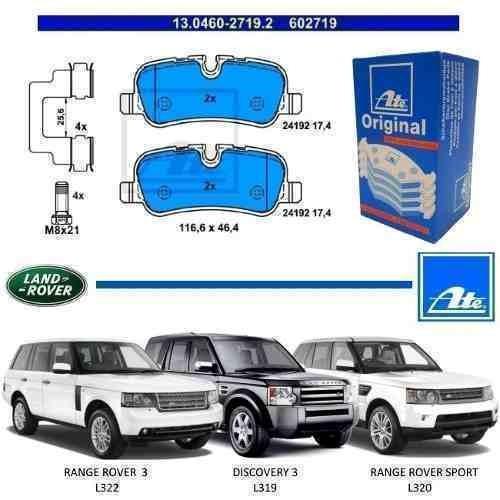pastilha de freio traseira range rover 3 l322 2012 original