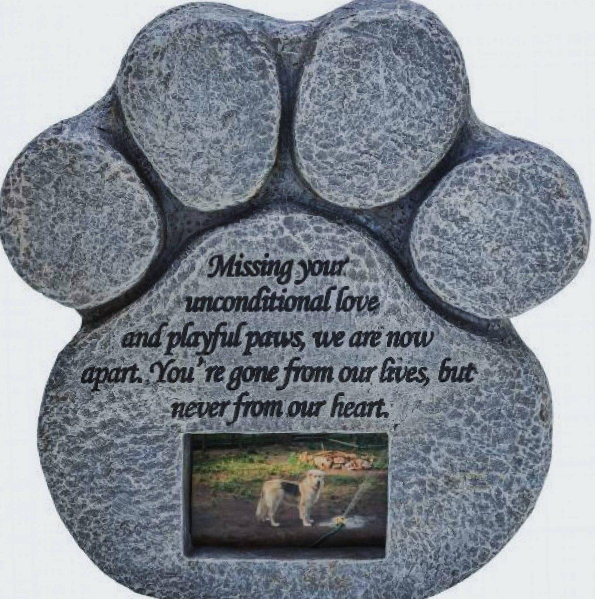 Pata De Impresión Pet Memorial Piedra Características D