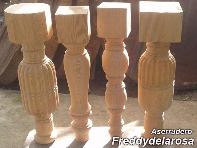 Patas para mesas y mesadas en madera antigua asserradero - Patas torneadas de madera ...