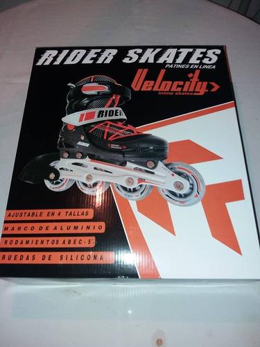 patin rider velocity prof. aluminio ruedas silicona t.36-39