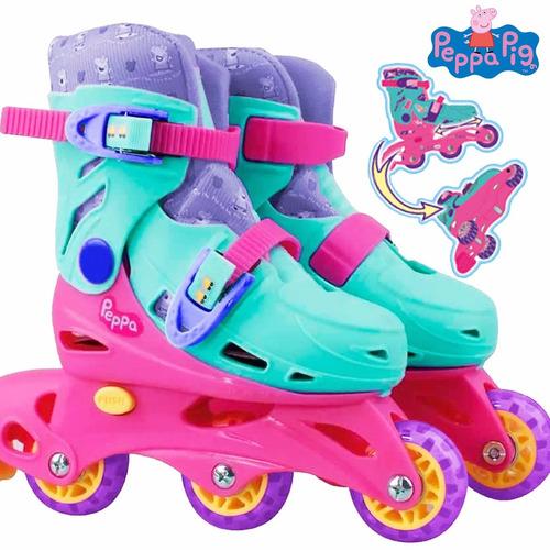 patín roller extensible peppa pig ruedas ajustables - el rey
