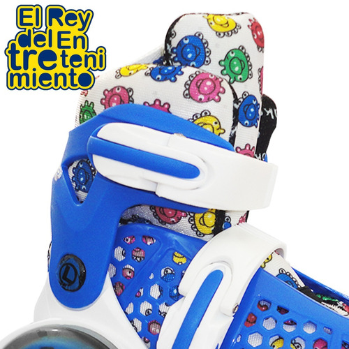 patín rollers ez 4 ruedas c/ luces extensibles niño - el rey