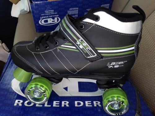 patines lazer 7.9 nuevos profesionales roller derby llanta g
