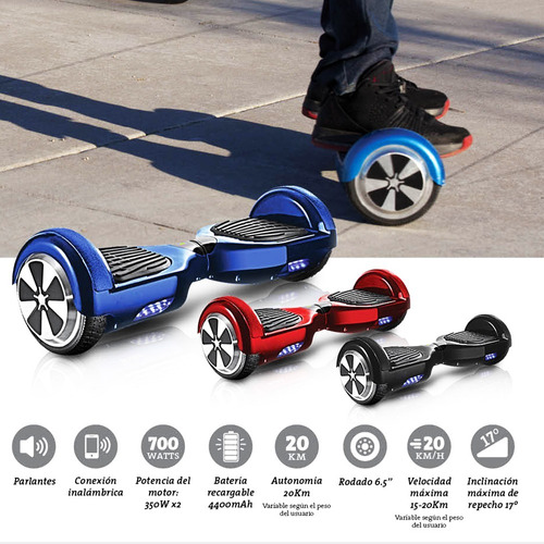 patineta eléctrica + bluetooth + música + luces hoverboard