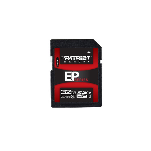 patriot 32gb uhs-1 sdhc memory card with read up to