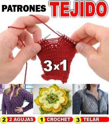 Patrones De Ropa Crochet, Tejido Dos Agujas, Telar - $ 150,00 en ...