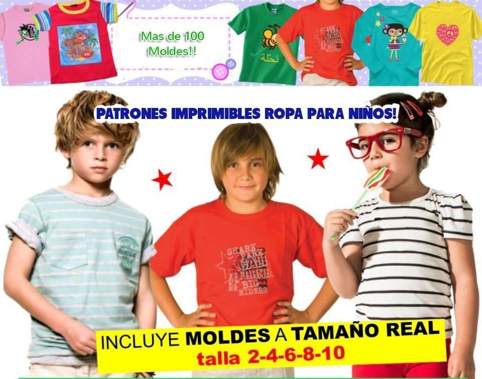 patrones moldes imprimibles ropa para niños de 2 a 12 años. Cargando zoom. 761c7af869f