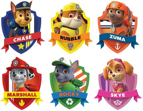 patrulla canina al rescate:los 6 personajes!!!