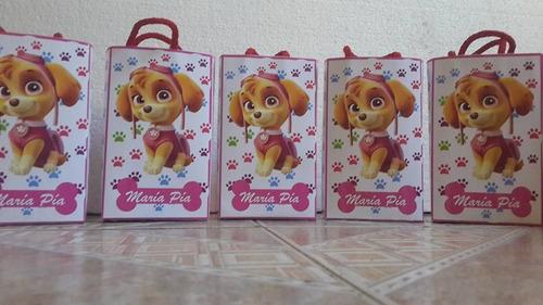 patrulla canina bolsas sorpresitas personalizadas