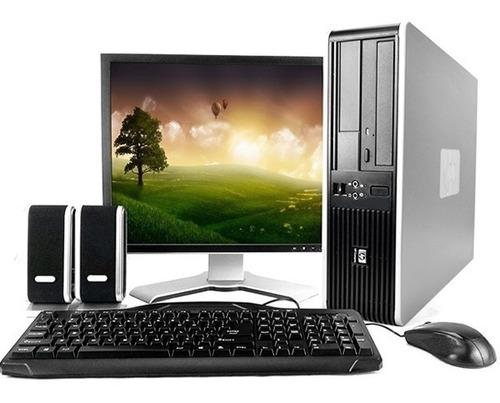 pc computadora dual core 4gb 500gb completo monitor 19''